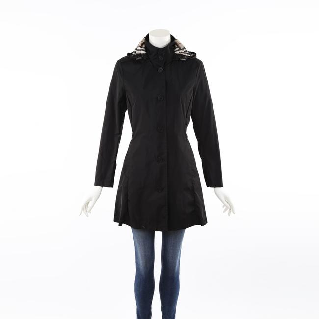 Burberry Black Hooded Trench Coat S Burberry Black Hooded Trench Coat S Image 1