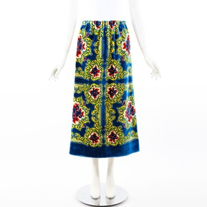 Gucci Multicolor Printed Terry Toweling Maxi Skirt