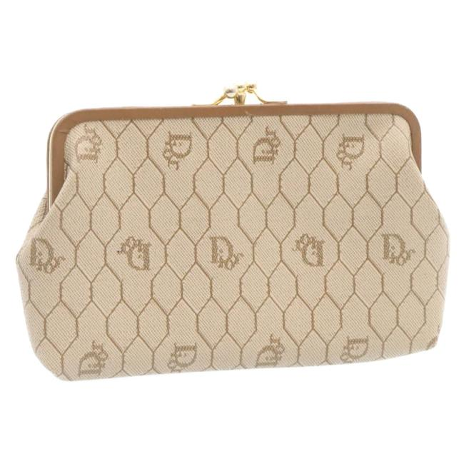 Item - Pvc Leather Beige Pouch Cosmetic Bag