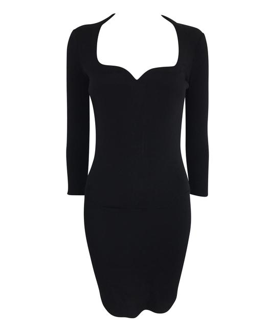 Item - Black Long Sleeve Bandage -pre Owned Condition Excellent Cocktail Dress