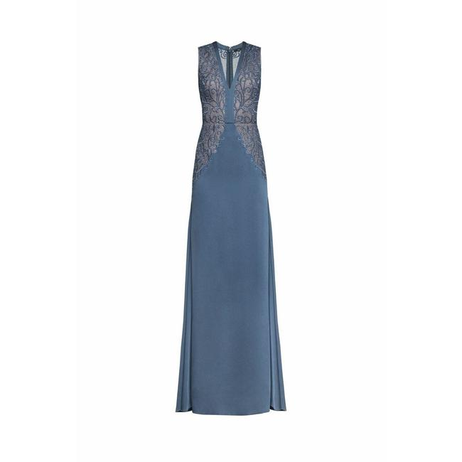 Item - Bcbgmaxazria Lace Embroidered Satin Gown Casual Maxi Dress