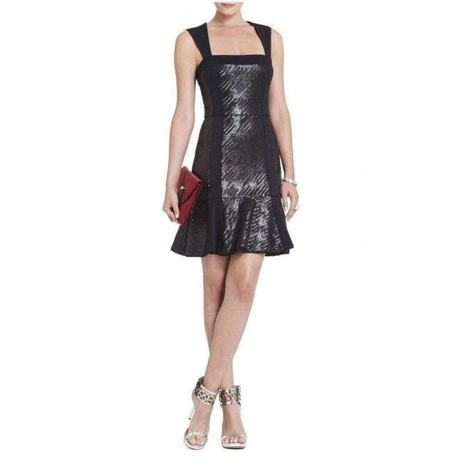 Item - Bcbgmaxazria Noelle Fitted Sequin Flounce 0 Short Casual Dress