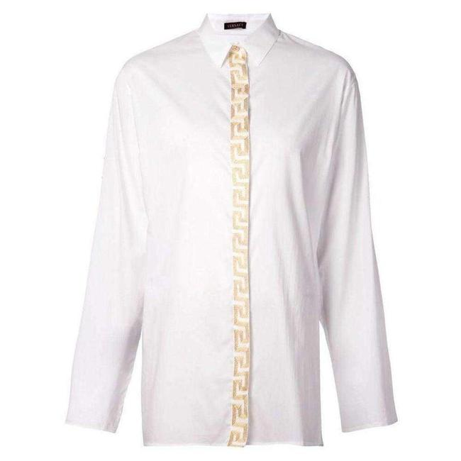 Item - Embroidered White Placket It 44 Tee Shirt