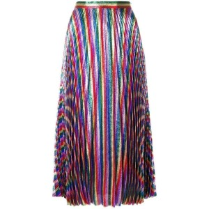 Gucci Iridescent Bow Lurex Pleated It 44 Skirt