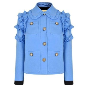 Gucci Ruffle-trimmed Cotton-blend Cady It 44 Jacket