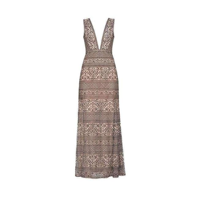 Item - Bcbgmaxazria Aurora Embroidered Tulle Gown Casual Maxi Dress