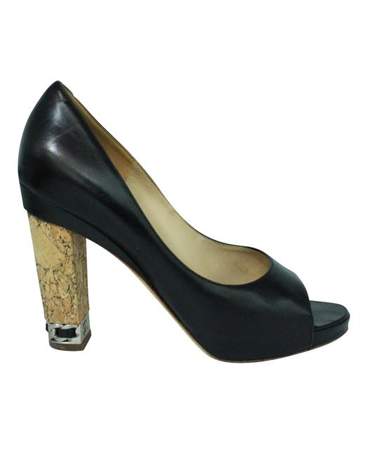 Item - Leather Heels with Cork Formal