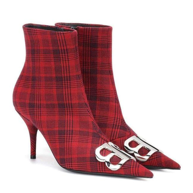 Item - Logo Plaid Canvas Ankle 40 Boots/Booties