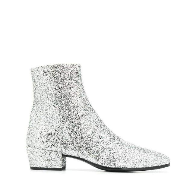 Item - Yves Silver Glittler Ankle 37.5 Boots/Booties