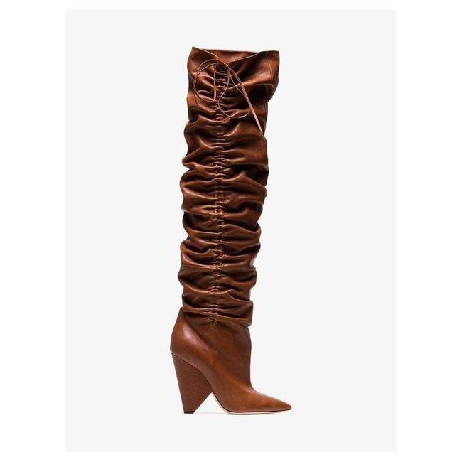 Item - Niki Yves 105 Leather Thigh High 37 Boots/Booties