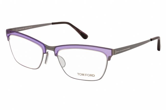 Item - Cat Eye Metal Women Lilac/Other / Clear Lens Sunglasses