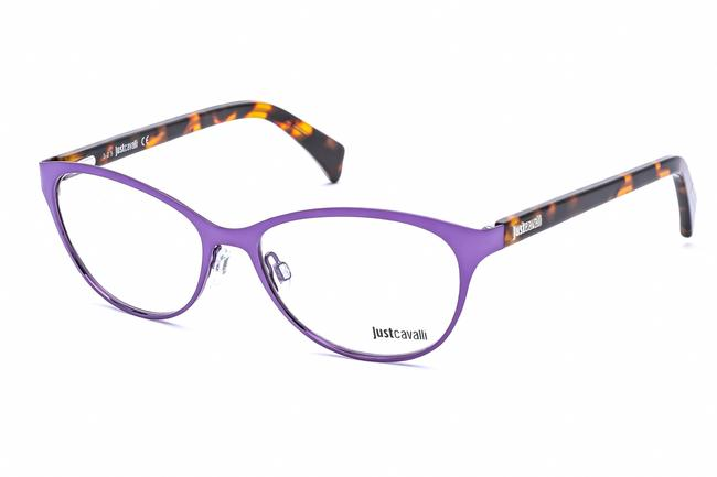 Item - Just Oval Metal Women Shiny Violet / Clear Lens Sunglasses