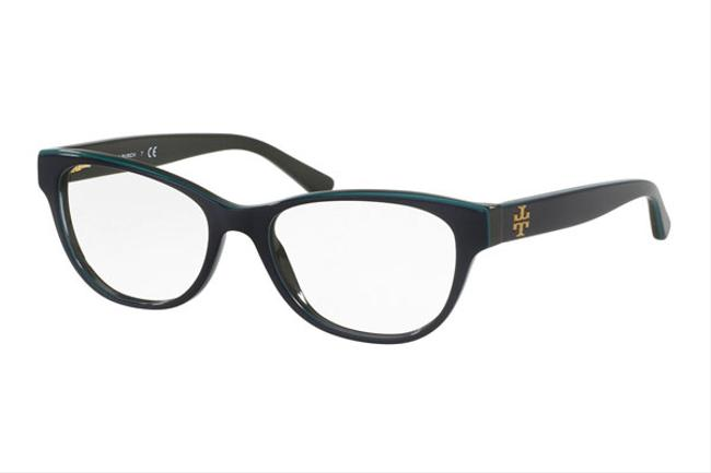 Item - Oval Acetate Women Navy/Turquoise / Clear Lens Sunglasses