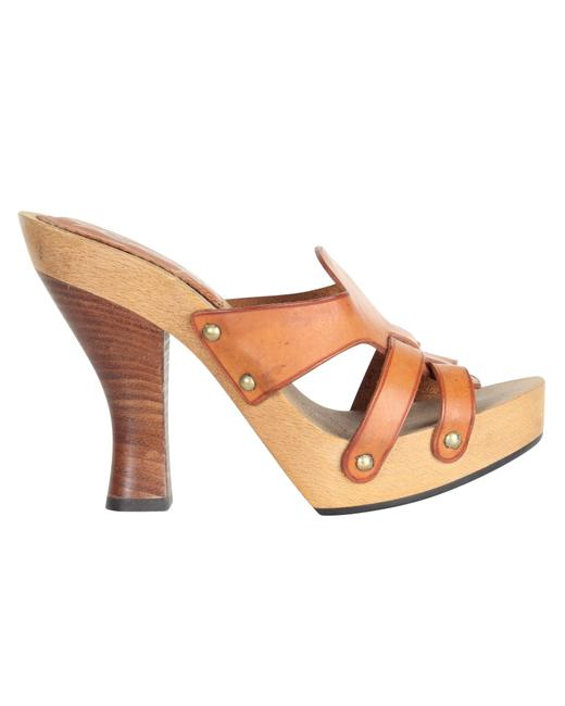 Item - Yves Brown Wooden Clogs -pre Owned Condition Gently Formal