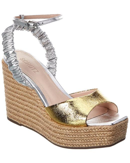 Item - Outwest Leather Wedge S20890-00200-001 Sandals