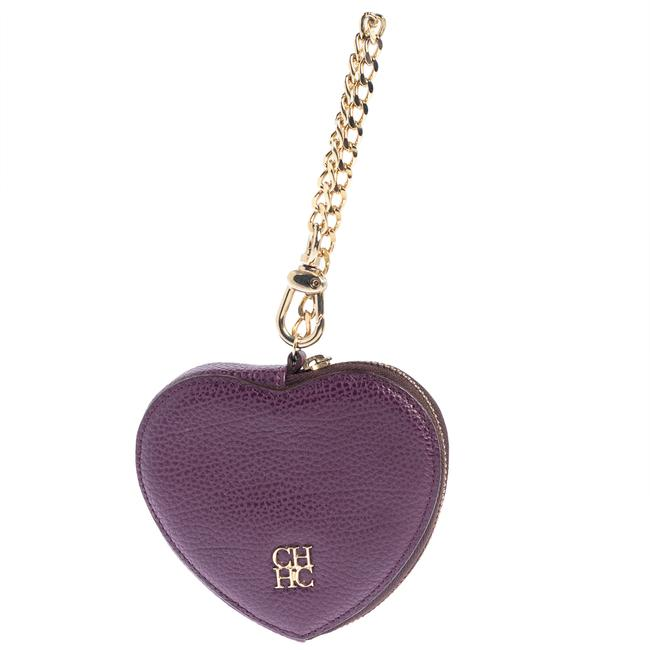 Item - Purple Leather Coin Purse Wallet