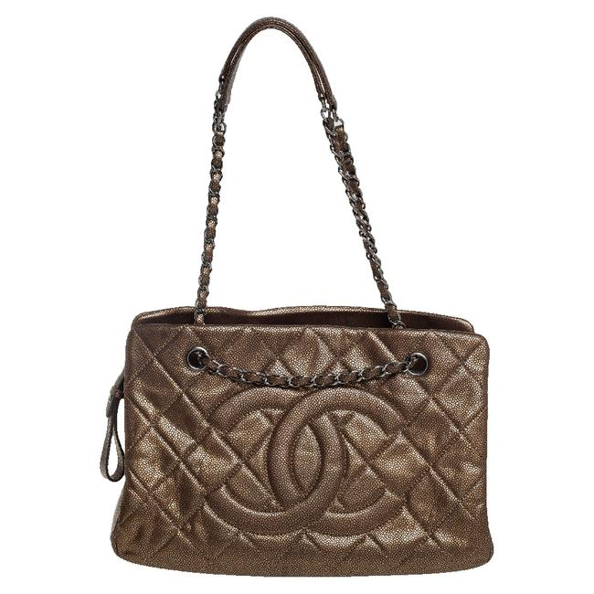 Item - Bronze Quilted Caviar Leather Cc Timeless Soft Tote