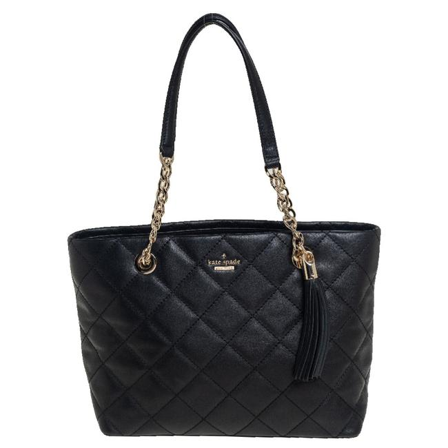 Item - Black Quilted Leather Emerson Place Phoebe Tote