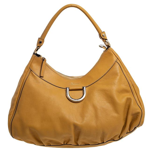 Item - Mustard Yellow Leather Large D-ring Hobo Bag