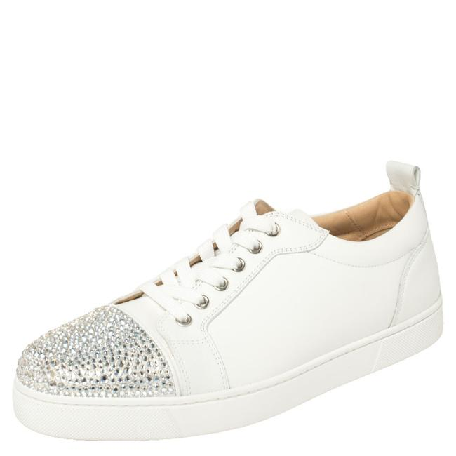 Item - White Leather Gondola Strass Low Top Sneakers Size 41 Athletic