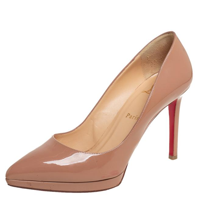 Item - Beige Patent Leather Pigalle Plato Pointed Size 39 Pumps