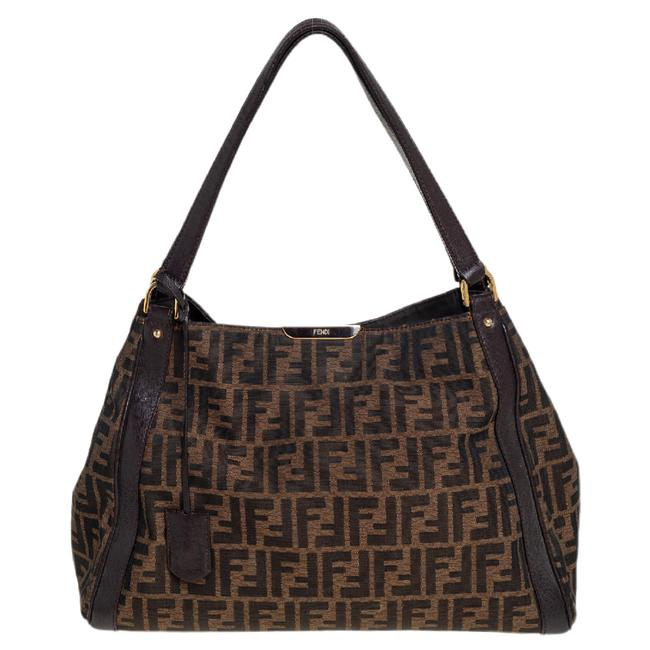 Item - Tobacco Zucca Canvas and Leather Tote