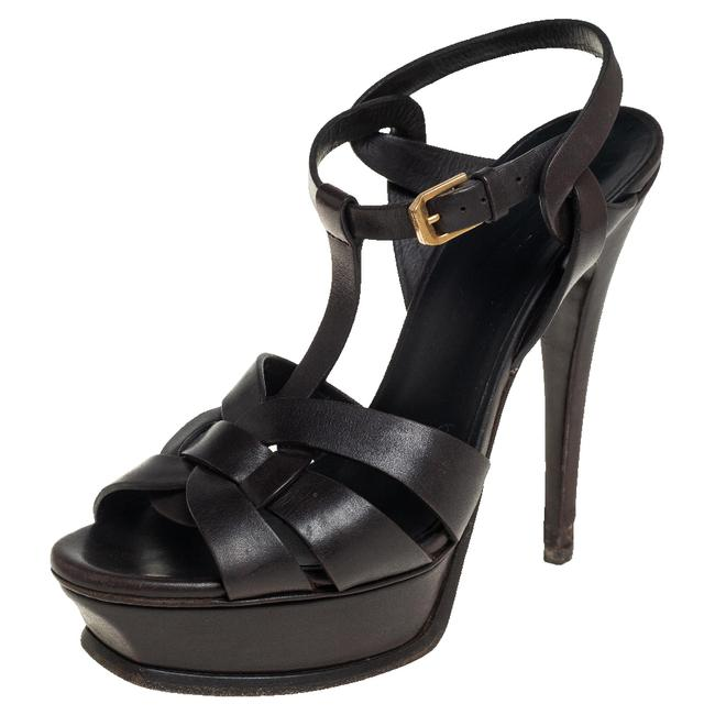 Item - Tribute Dark Brown Leather Size 37 Sandals