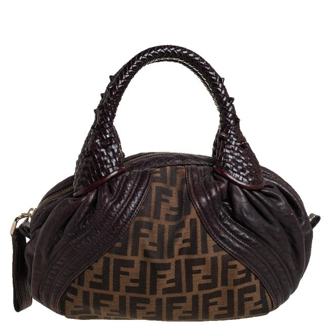 Item - Tobacco Zucca Canvas and Leather Baby Spy Hobo Bag