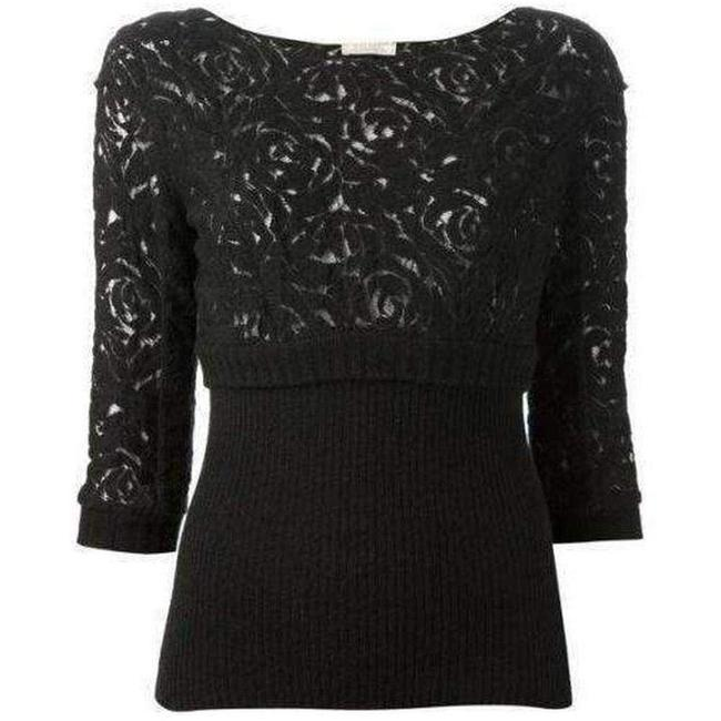 Item - Black Wool Blend Lace Sweater/Pullover
