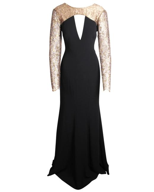 Item - Gold Shoulder Lace Gown -pre Owned Condition Very Good Us14 Formal Dress