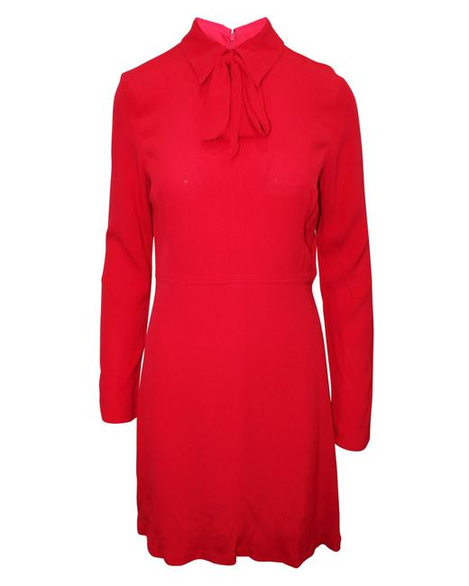 Item - Paris Red Long-sleeved -pre Owned Condition Very Good Formal Dress