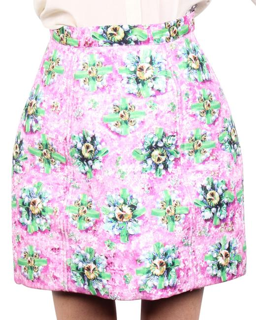 Item - Floral Neoprene -pre Owned Condition Very Good Skirt