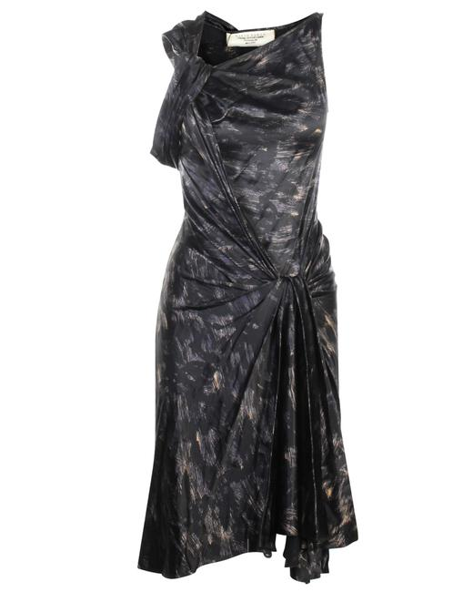 Item - Black Printed Silk -pre Owned Condition Very Good Formal Dress