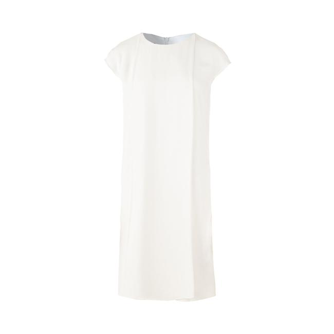 Item - Emporio Panelled White Shift -pre Owned Condition Very Formal Dress