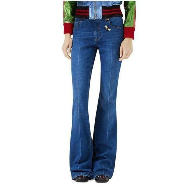 Item - Bee & Butterfly Patches Straight Leg Jeans