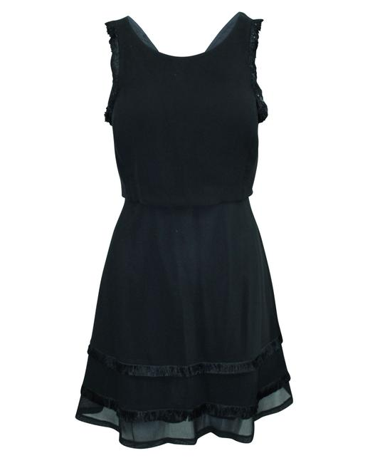 Item - Paris Black Mini with Fringes -pre Owned Condition Very Formal Dress
