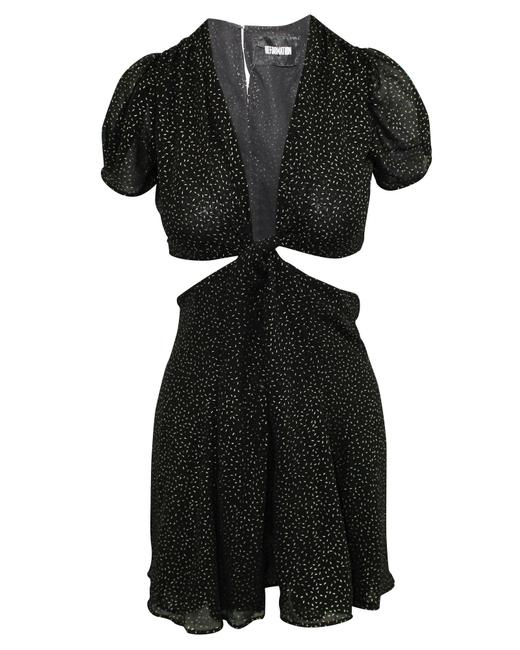 Item - Black with Metalic Print -pre Owned Condition Very Formal Dress