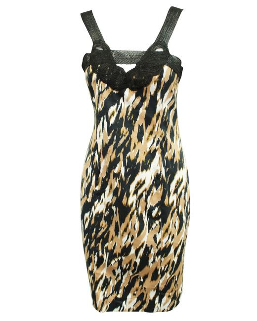 Item - Brown Black and White Print -pre Owned Condition Very Formal Dress