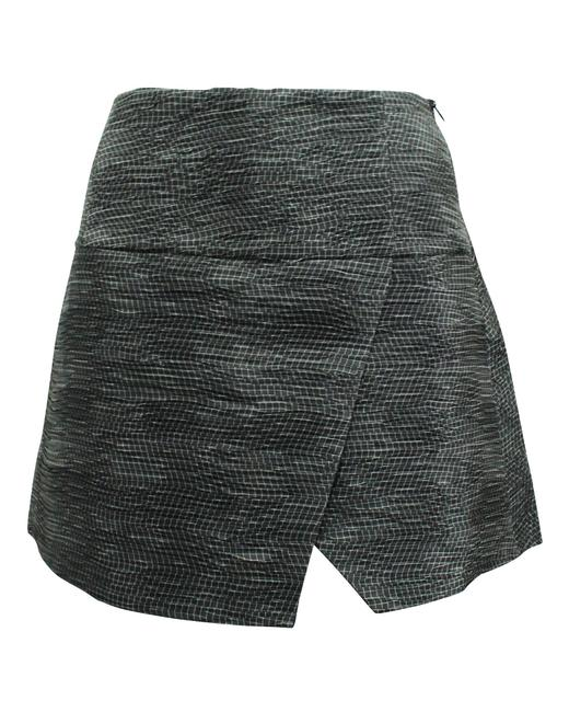 Item - Emporio Black and White Print Mini -pre Owned Condition Skirt