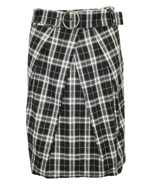 Item - Checked Grey with Belt -pre Owned Condition Very Good Skirt