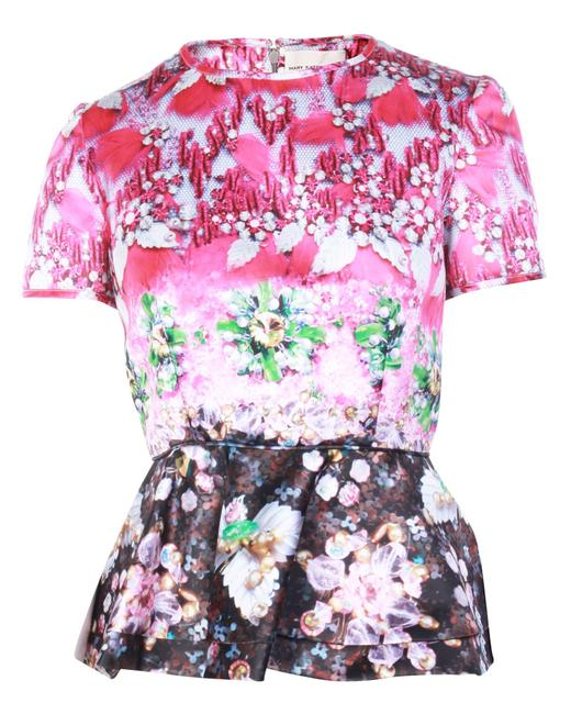 Item - Floral Peplum -pre Owned Condition Excellent Blouse