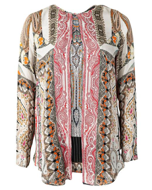 Item - Printed Silk Top -pre Owned Condition Very Good Eu40 Blouse