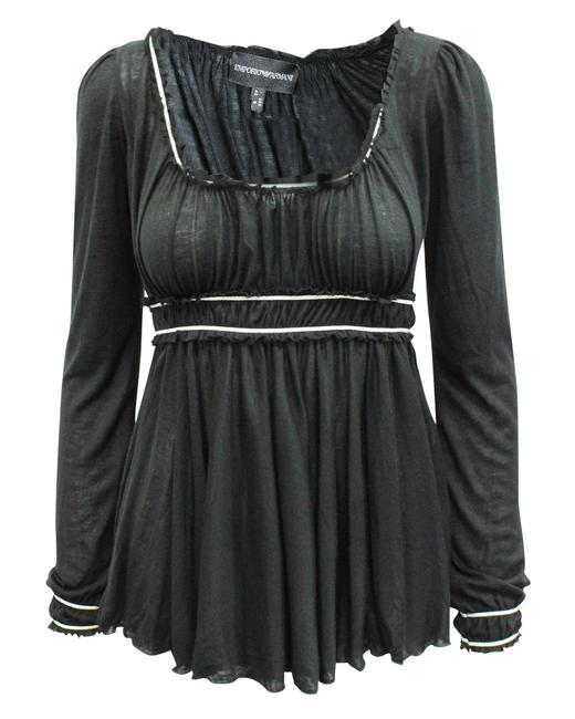 Item - Emporio Black with Elastic Waist -pre Owned Condition Blouse