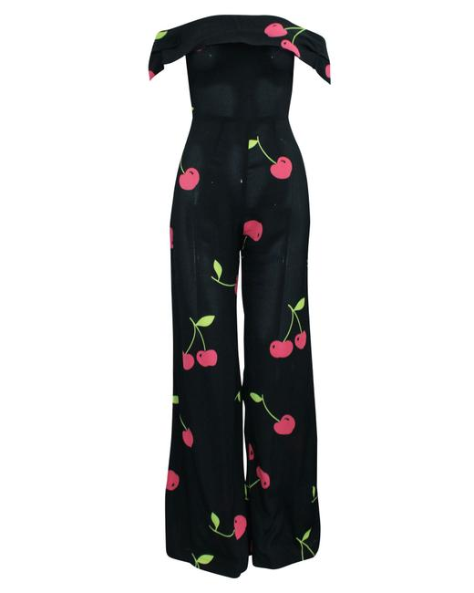Item - Off-shoulder Cherry Print -pre Owned Condition Romper/Jumpsuit