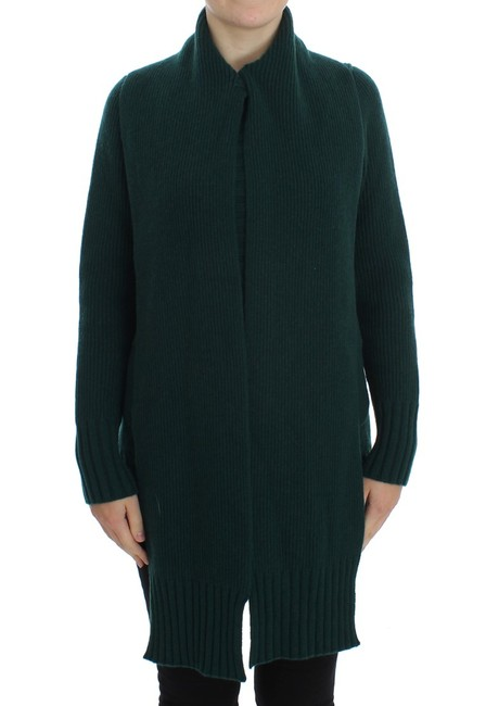 Item - Green Knitted Cashmere Cardigan Sweater/Pullover