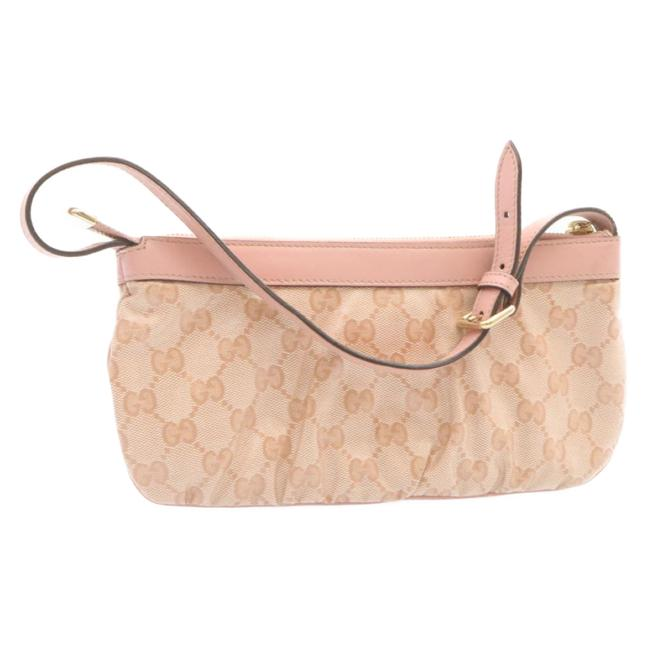 Item - Coated Canvas Gg Canvas Pink Accessory Pouch Baguette