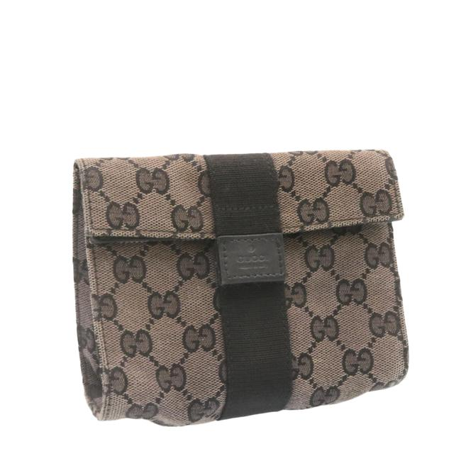 Item - Gg Canvas Black Pouch Cosmetic Bag