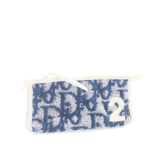 Item - Pile Blue Pouch Cosmetic Bag