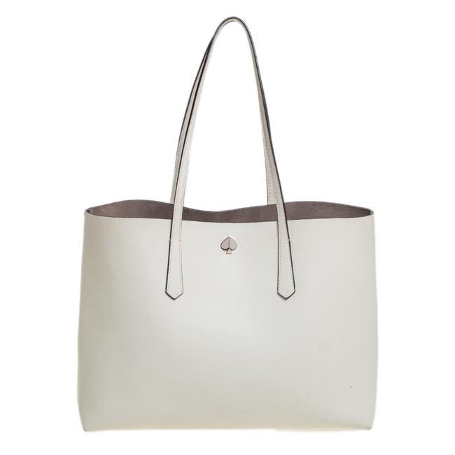 Item - Off White Leather Tote