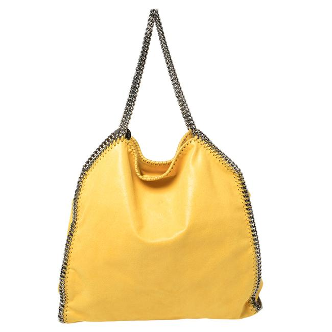 Item - Yellow Faux Suede Large Falabella Tote